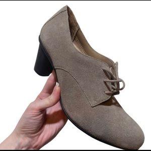 Vionic Oxford Maura Heel Bootie Gray Suede 8.5